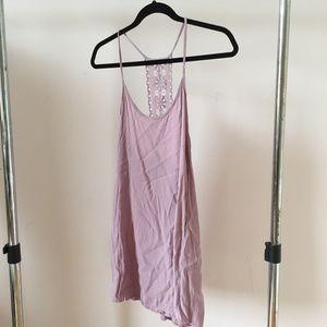 Lavender Dress with Crochet Back